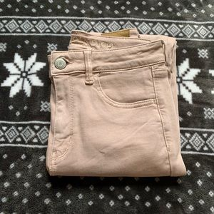AE pink jeans
